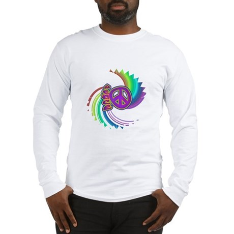 Rainbow Spin Peace Long Sleeve T-Shirt