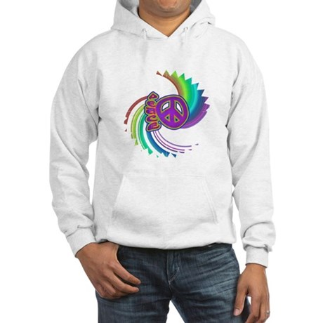 Rainbow Spin Peace Hooded Sweatshirt
