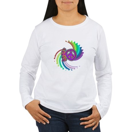Rainbow Spin Peace Women's Long Sleeve T-Shirt