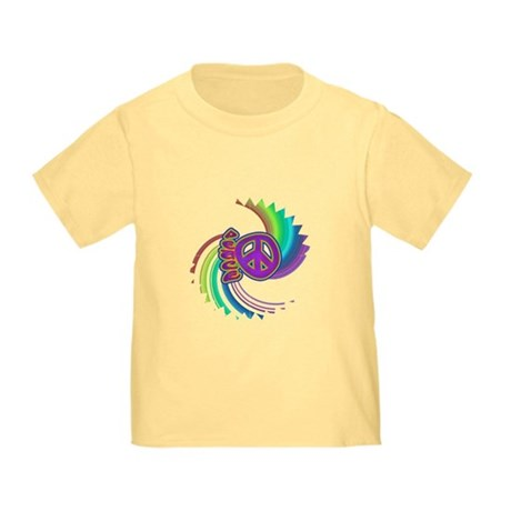 Rainbow Spin Peace Toddler T-Shirt