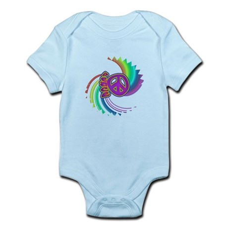 Rainbow Spin Peace Infant Bodysuit