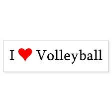 I Love Volleyball Bumper Bumper Sticker