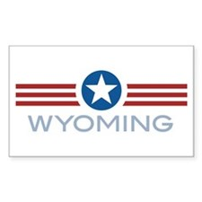Star Stripes Wyoming Rectangle Decal