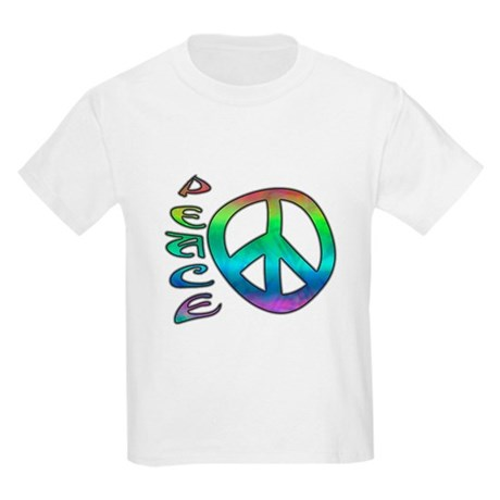 Rainbow Peace Kids Light T-Shirt