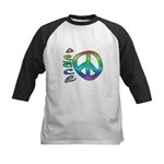 Rainbow Peace Kids Baseball Jersey