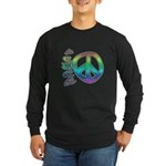 Rainbow Peace Long Sleeve Dark T-Shirt