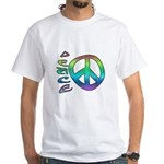 Rainbow Peace White T-Shirt