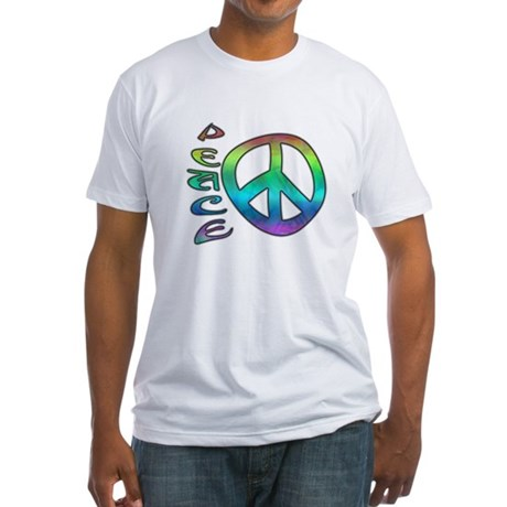 Rainbow Peace Fitted T-Shirt