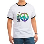 Rainbow Peace Ringer T