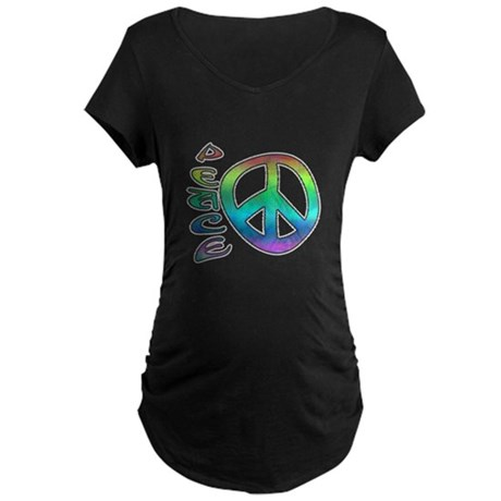 Rainbow Peace Maternity Dark T-Shirt