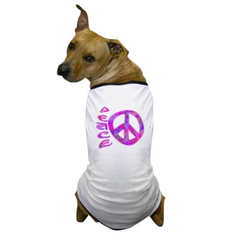 Pink Peace Dog T-Shirt