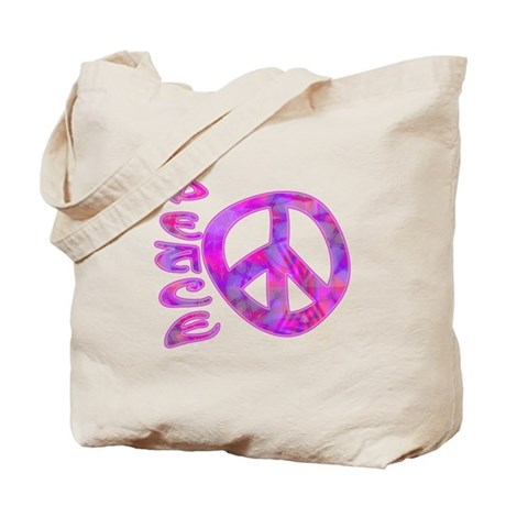 Pink Peace Tote Bag