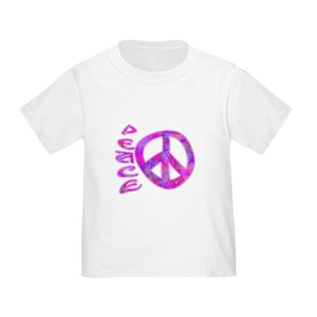 Pink Peace Toddler T-Shirt