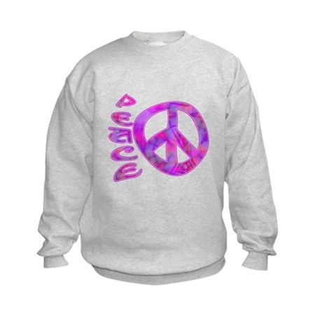 Pink Peace Kids Sweatshirt