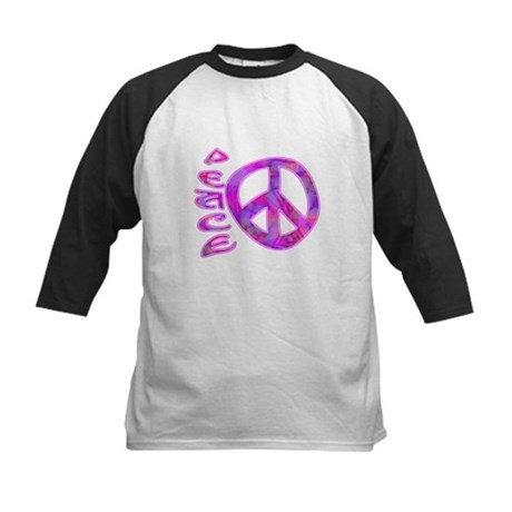 Pink Peace Kids Baseball Jersey