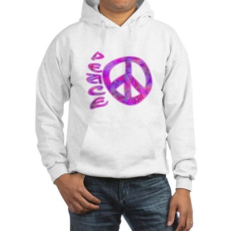 Pink Peace Hooded Sweatshirt