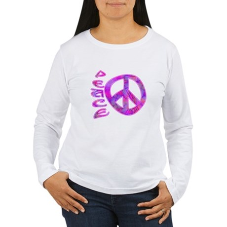 Pink Peace Women's Long Sleeve T-Shirt