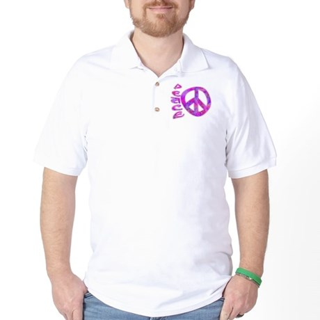 Pink Peace Golf Shirt