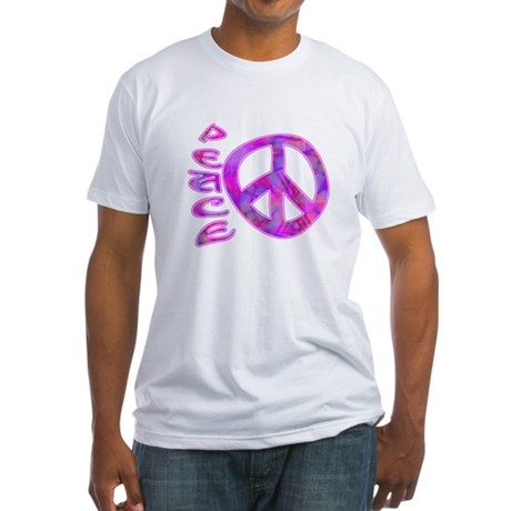 Pink Peace Fitted T-Shirt