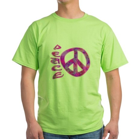 Pink Peace Green T-Shirt