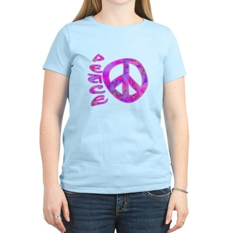 Pink Peace Women's Light T-Shirt