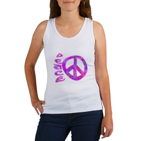 Pink Peace Women's Tank Top