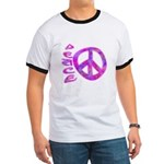 Pink Peace Ringer T