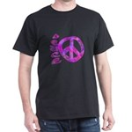 Pink Peace Dark T-Shirt