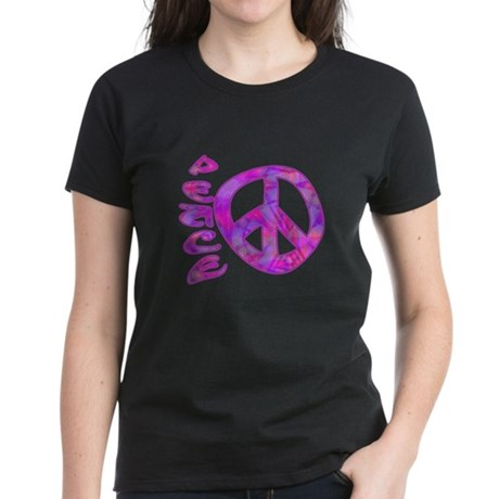 Pink Peace Women's Dark T-Shirt