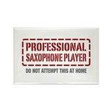 Professional Saxophone Player Rectangle Magnet