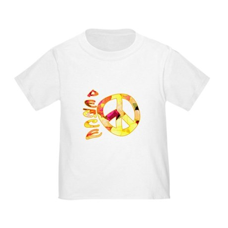 Flowery Orange Peace Toddler T-Shirt