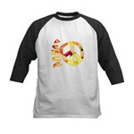 Flowery Orange Peace Kids Baseball Jersey