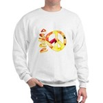 Flowery Orange Peace Sweatshirt