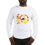 Flowery Orange Peace Long Sleeve T-Shirt