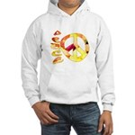 Flowery Orange Peace Hooded Sweatshirt