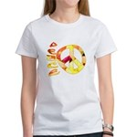 Flowery Orange Peace Women's T-Shirt