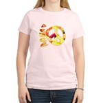 Flowery Orange Peace Women's Light T-Shirt