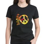 Flowery Orange Peace Women's Dark T-Shirt