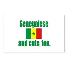 Cute Senegalese Rectangle Sticker 10 pk)