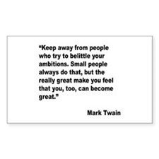 Mark Twain Great People Quote Rectangle Decal