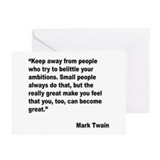 Mark Twain Great People Quote Greeting Cards (Pk o