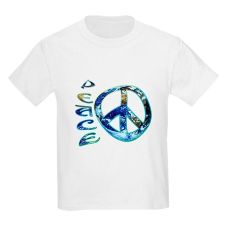 Earth Peace Kids Light T-Shirt