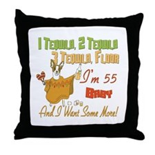 Tequila 55th Throw Pillow