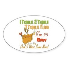 Tequila 55th Oval Sticker