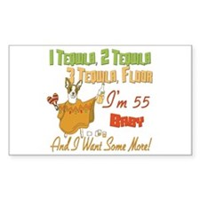 Tequila 55th Rectangle Sticker