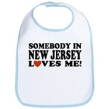 Somebody in New Jersey Loves Me! Bib