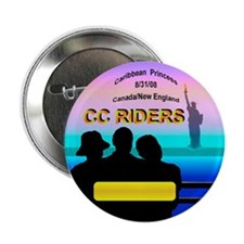 "CC RIDERS LOGO Name Tag- 2.25"" Button"