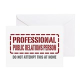 Professional Public Relations Person Greeting Card