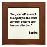 Buddha Love Quote Framed Tile