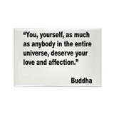 Buddha Love Quote Rectangle Magnet (10 pack)